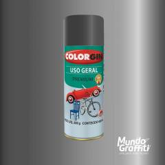 Tinta Spray Colorgin Uso Geral 57101 Grafite Executivo Metalico 400ml