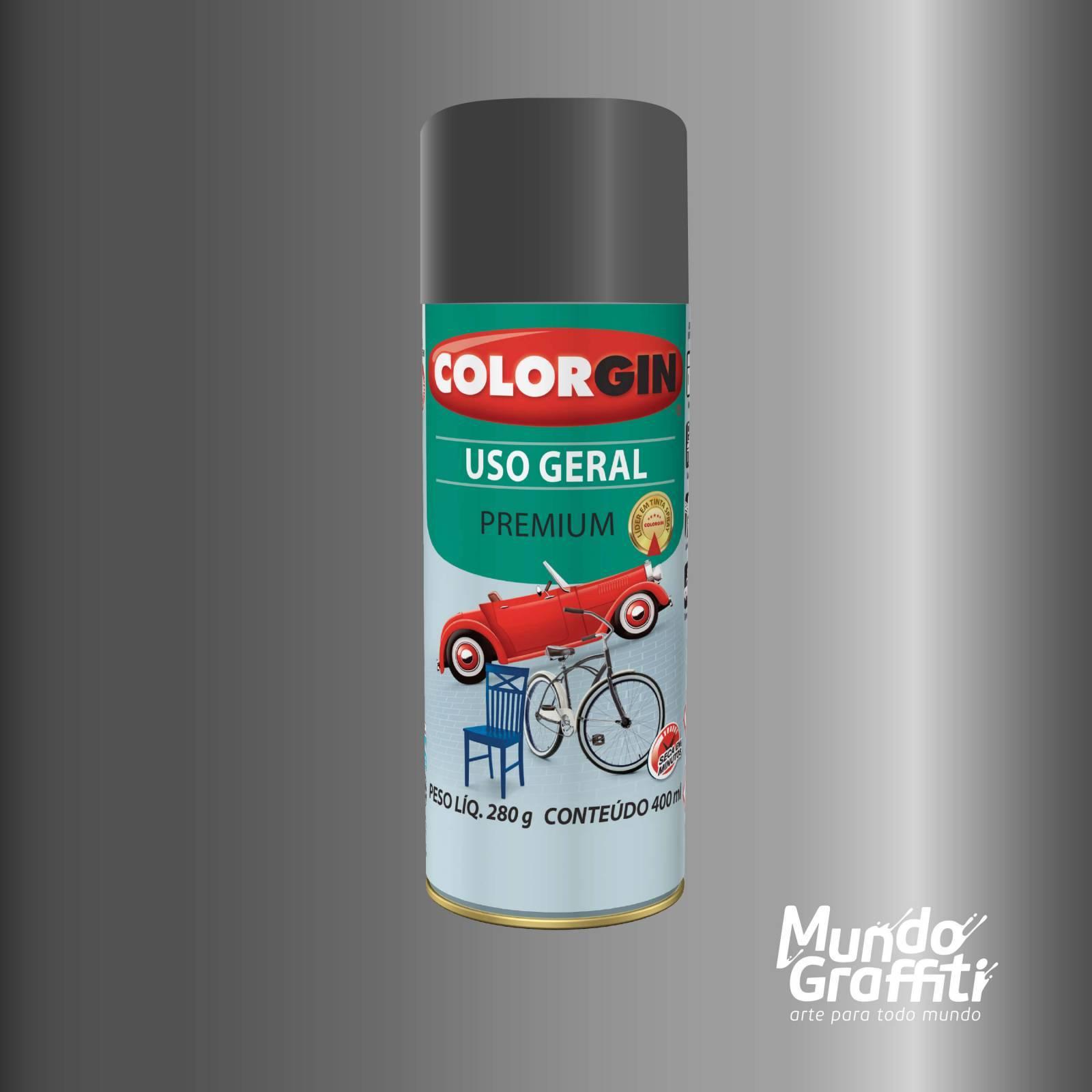 Tinta Spray Colorgin Uso Geral 57101 Grafite Executivo Metal - Mundo Graffiti