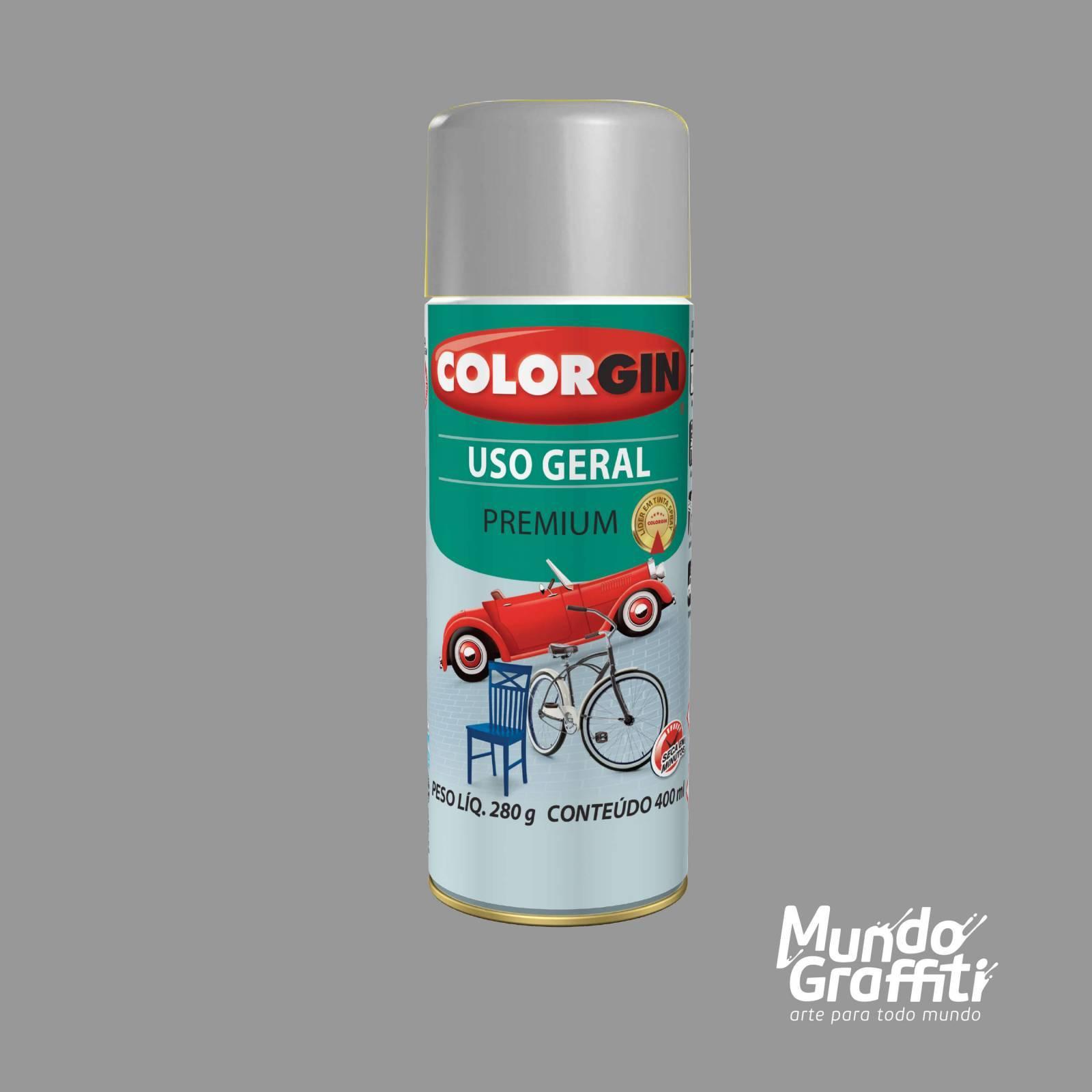 Tinta Spray Colorgin Uso Geral 55041 Cinza Placa 400ml - Mundo Graffiti