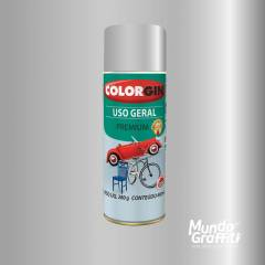 Tinta Spray Colorgin Uso Geral 57061 Prata Real Metalico 400ml