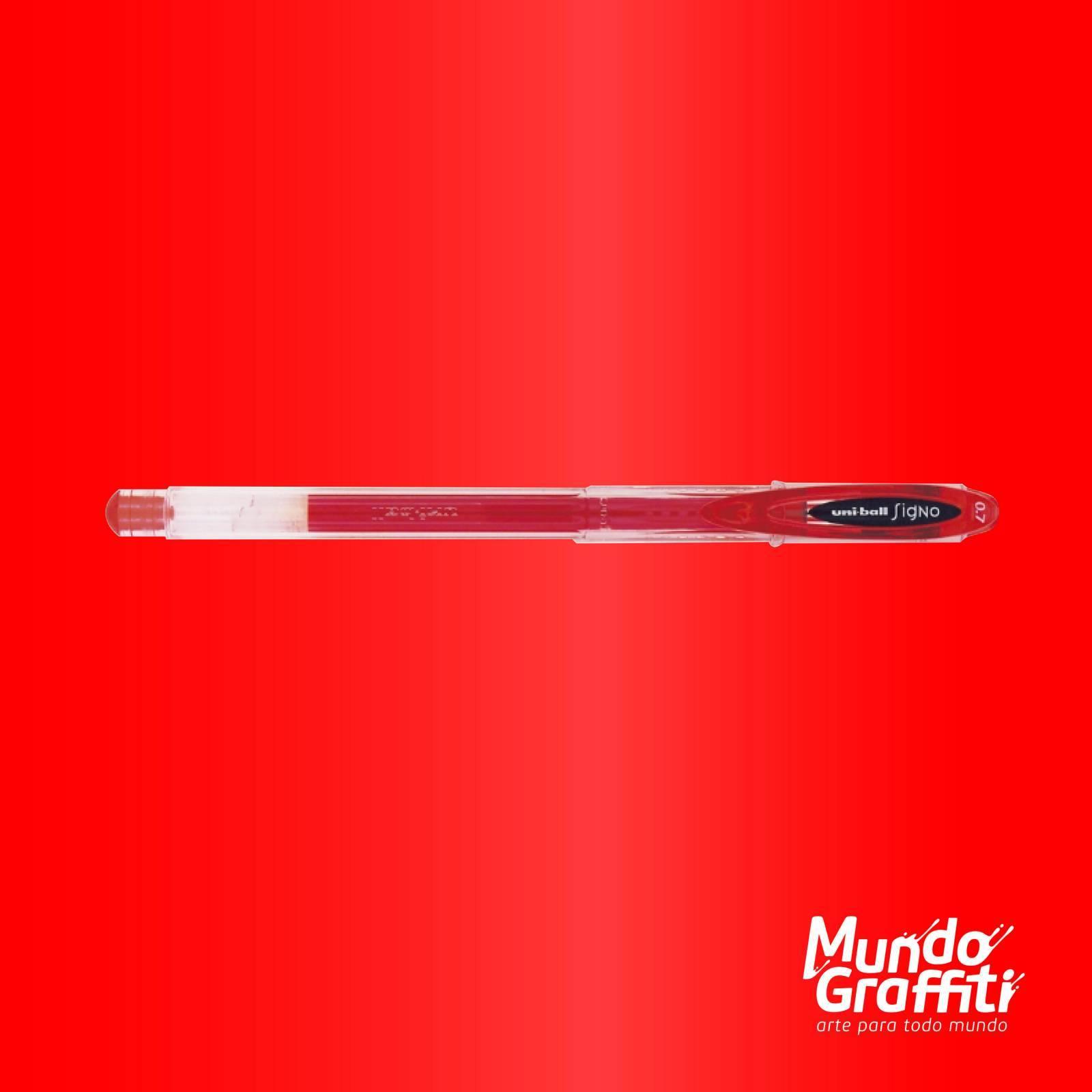 Caneta Signo Gel Neo Vermelho 0,7mm - Mundo Graffiti