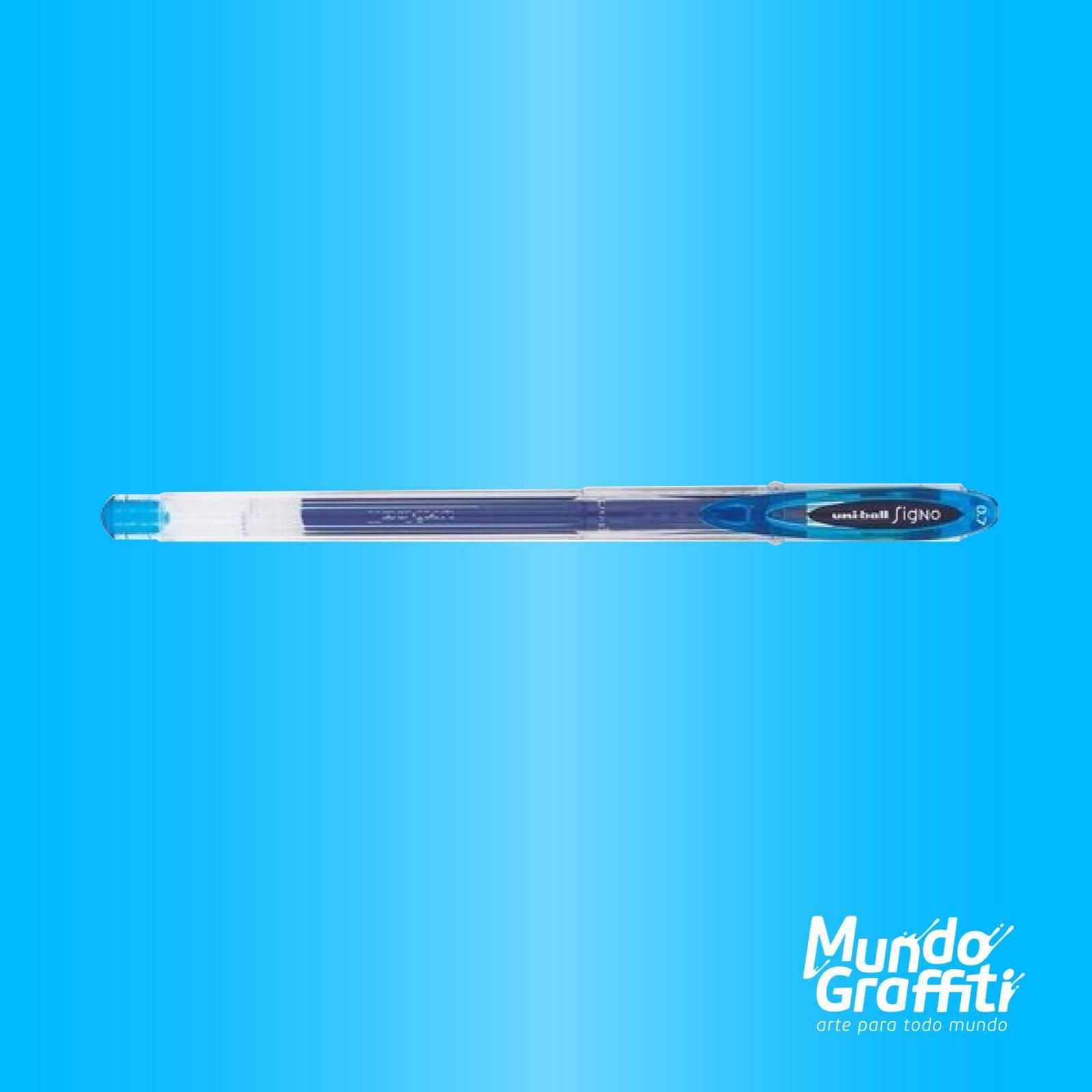 Caneta Signo Gel Neo Azul Claro 0,7mm - Mundo Graffiti