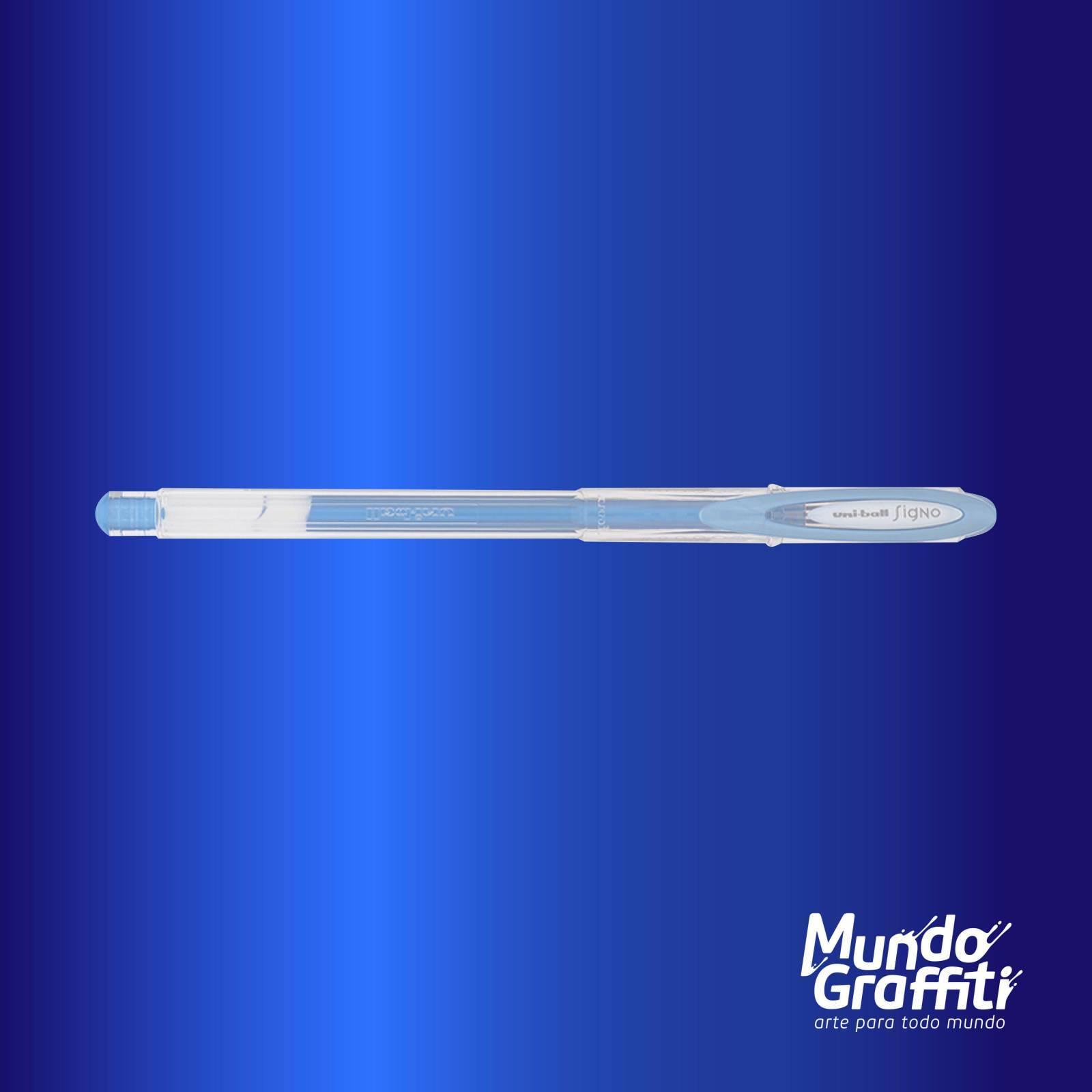 Caneta Signo Gel Noble Metal Azul 0,7mm - Mundo Graffiti