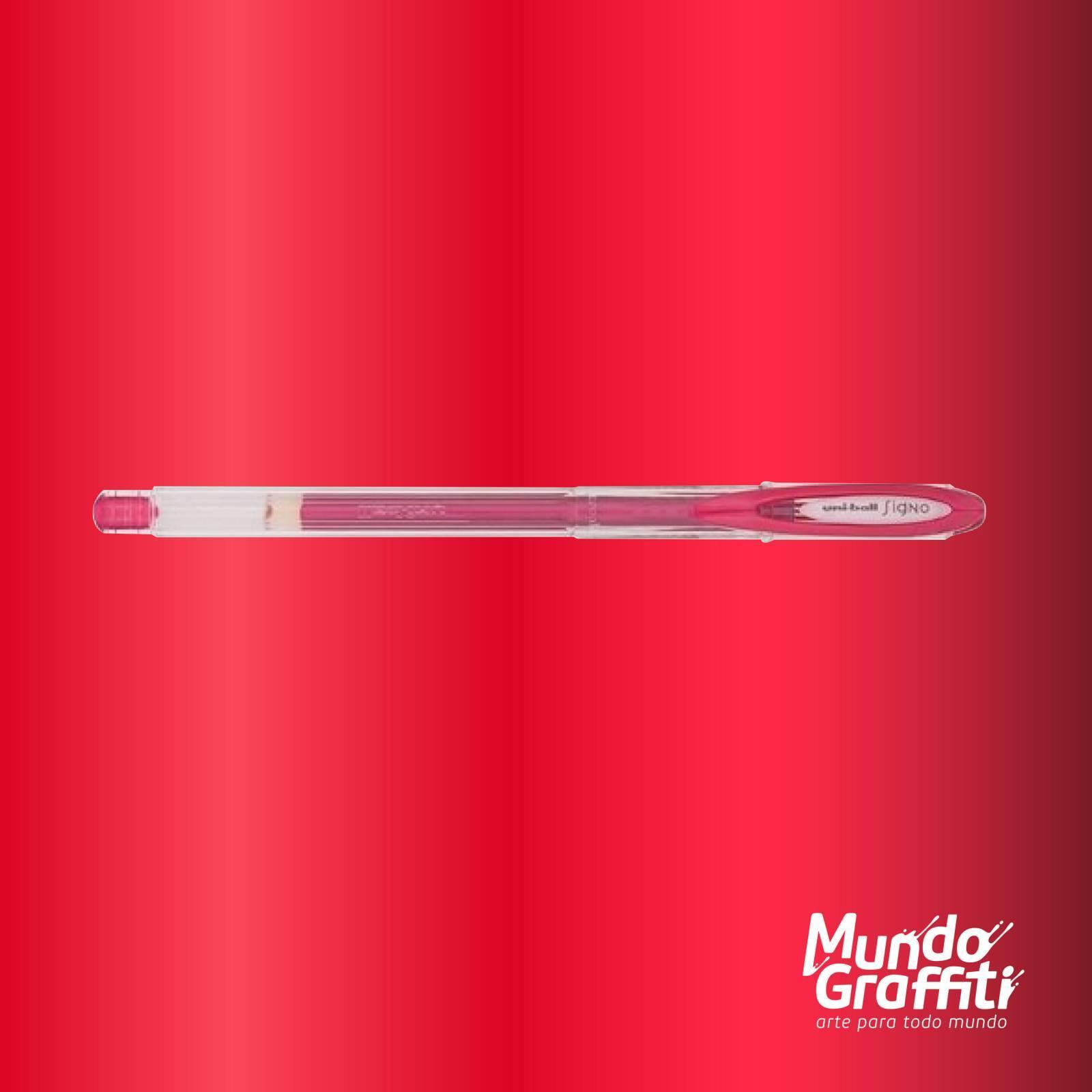 Caneta Signo Gel Noble Metal Vermelho 0,7mm - Mundo Graffiti
