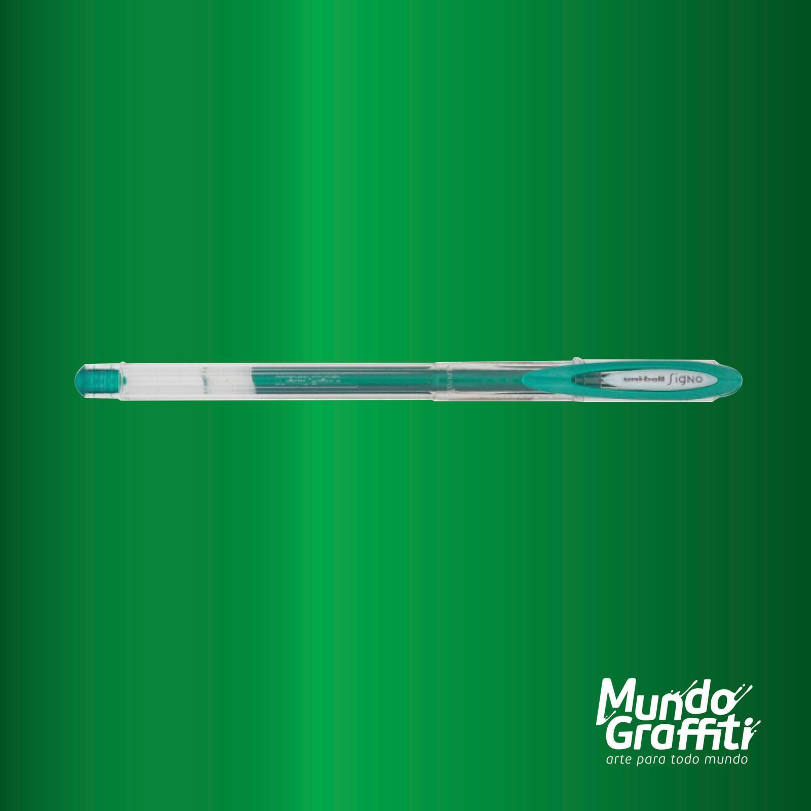 Caneta Signo Gel Noble Metal Verde 0,7mm - Mundo Graffiti