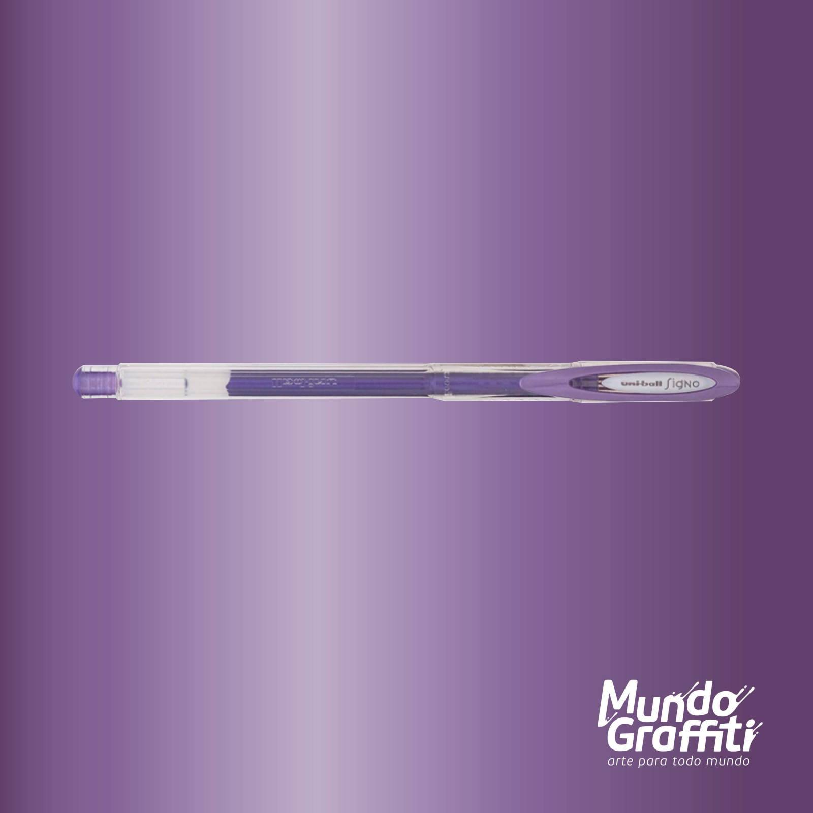 Caneta Signo Gel Noble Metal Violeta 0,7mm - Mundo Graffiti