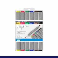 Kit Cis Graf Duo Brush Cores Basicas C/ 6