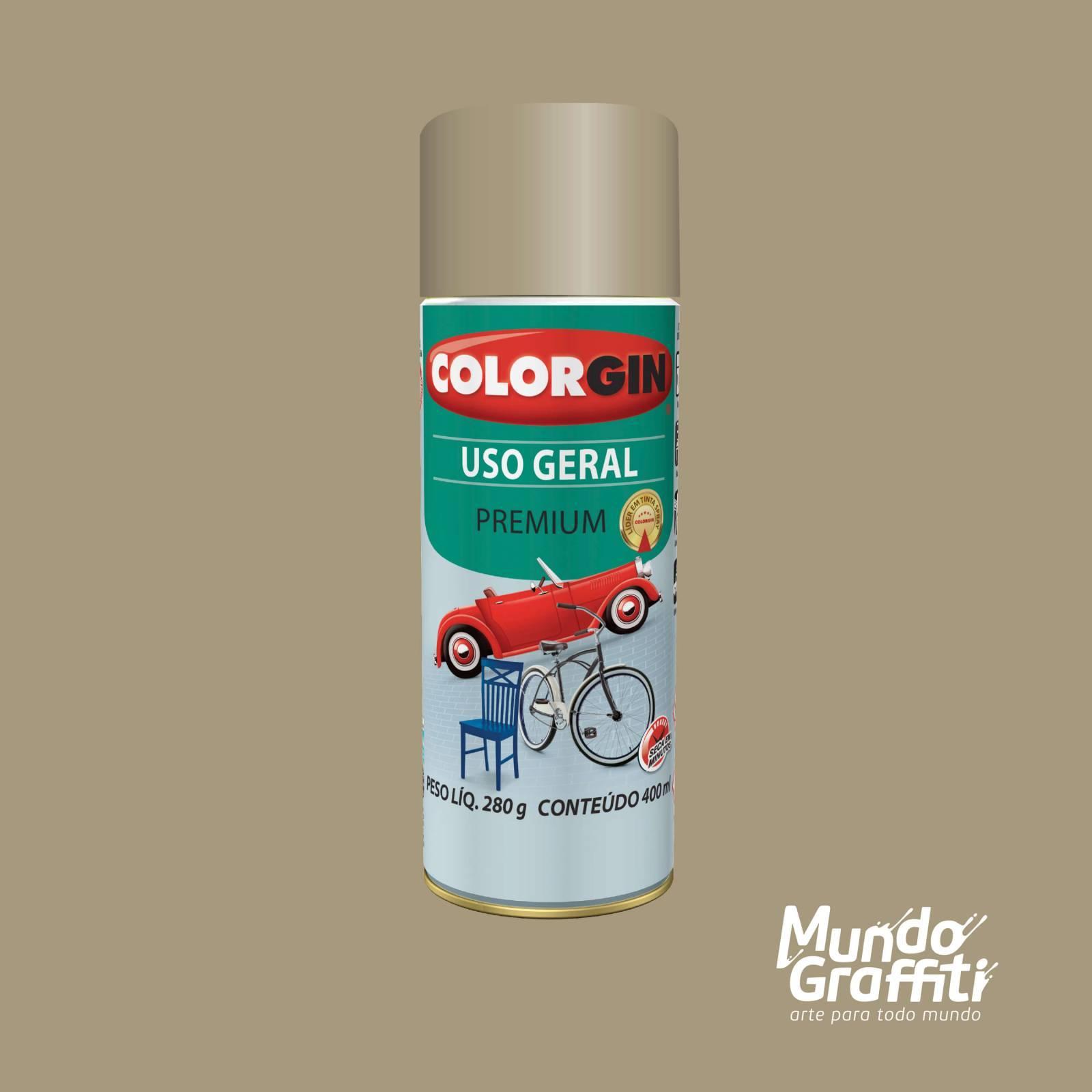 Tinta Spray Colorgin Uso Geral 55261 Bege Mediterraneo 400ml - Mundo Graffiti
