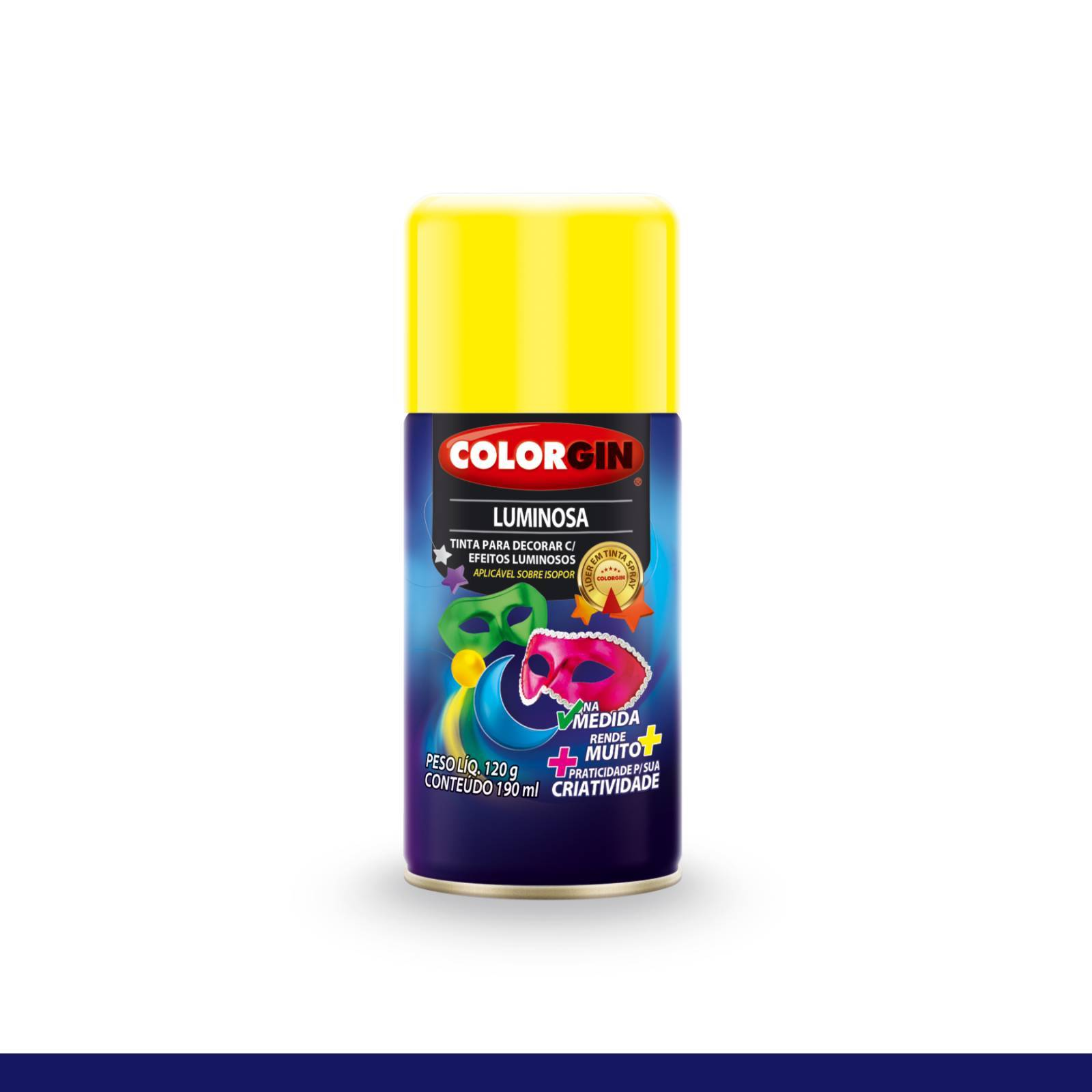 Tinta Spray Colorgin Luminosa Amarelo 576 Na Medida 190ml - Mundo Graffiti
