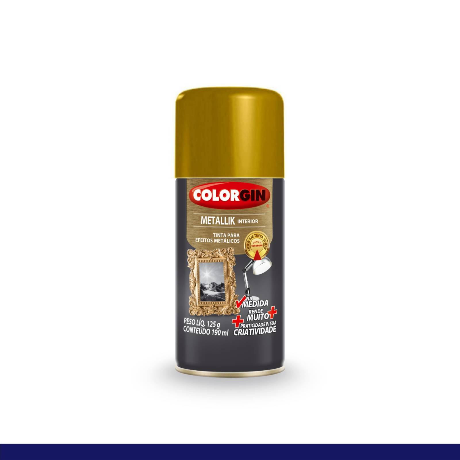Tinta Spray Colorgin Metallik Ouro 552 Na Medida 190ml - Mundo Graffiti