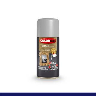 Tinta Spray Colorgin Metallik Prata Na Medida 190ml