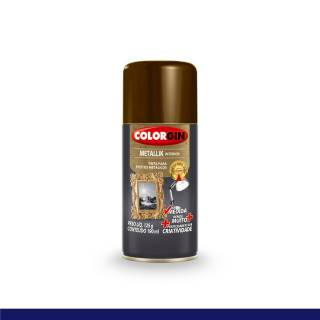 Tinta Spray Colorgin Metallik Bronze Na Medida 190ml