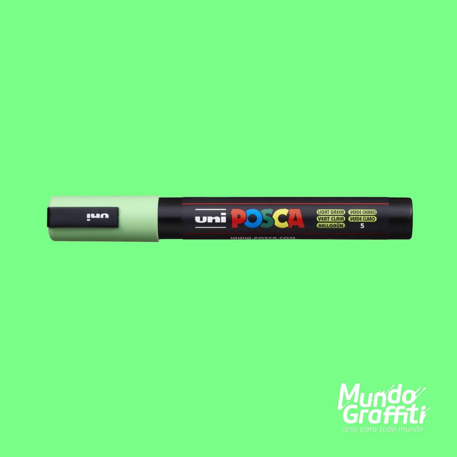 Caneta Posca 5M Verde Claro - Mundo Graffiti