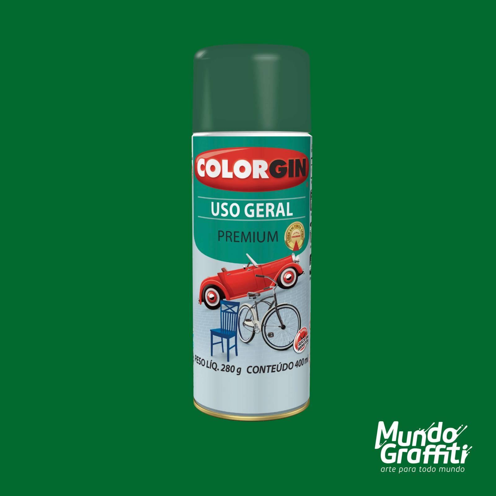 Tinta Spray Colorgin Uso Geral 54022 Verde Folha 400ml - Mundo Graffiti