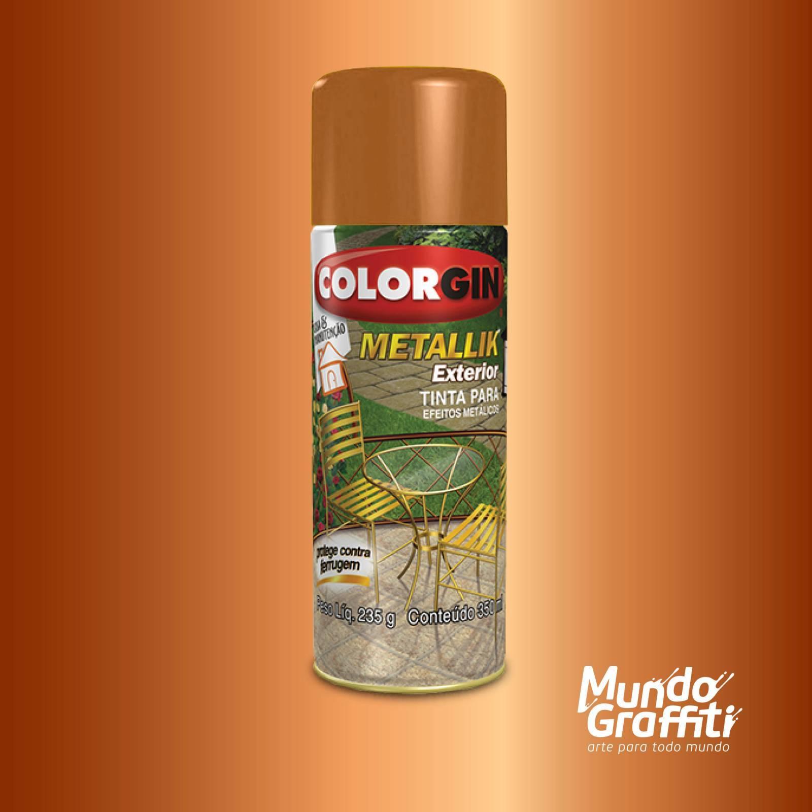 Tinta Spray Colorgin Metallik Exterior 65 Cobre 350ml - Mundo Graffiti