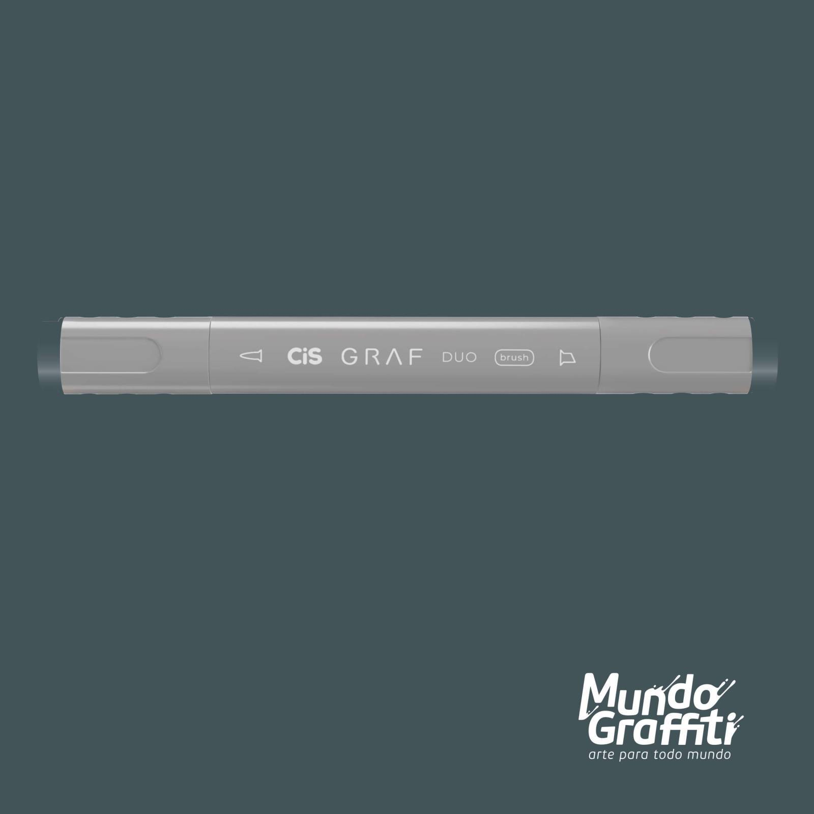 Marcador Cis Graf Duo Brush BG5 Blue Grey - Mundo Graffiti