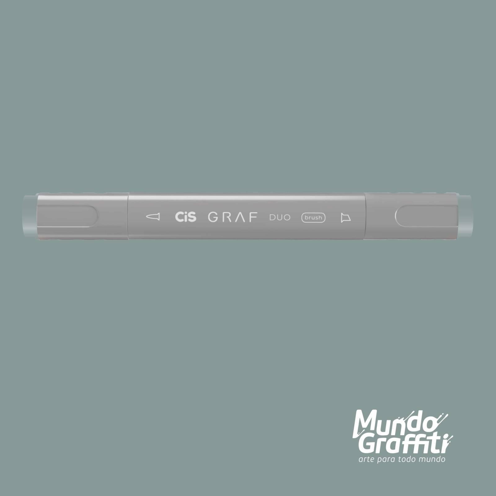 Marcador Cis Graf Duo Brush BG1 Blue Grey - Mundo Graffiti