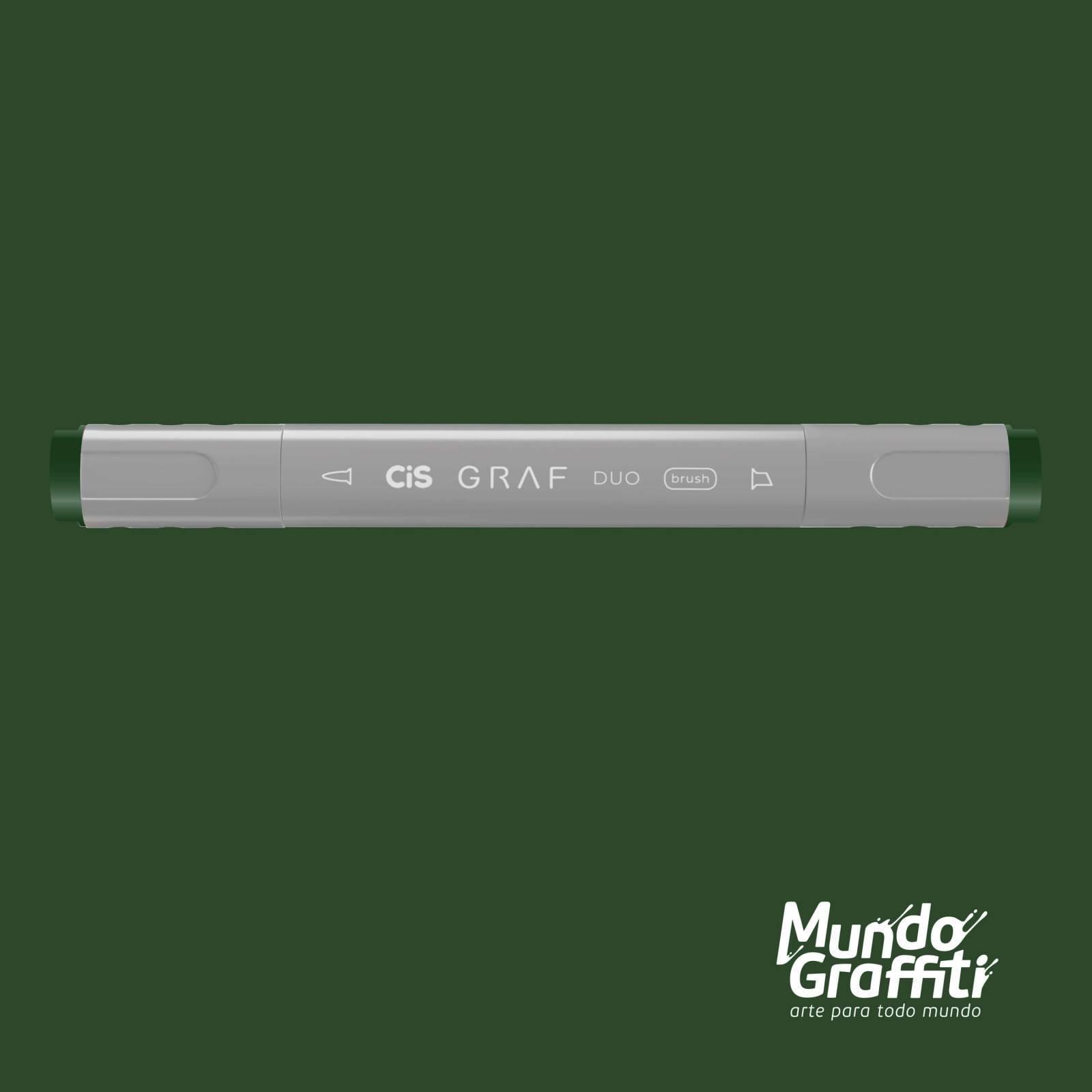 Marcador Cis Graf Duo Brush Dark Green 51 - Mundo Graffiti