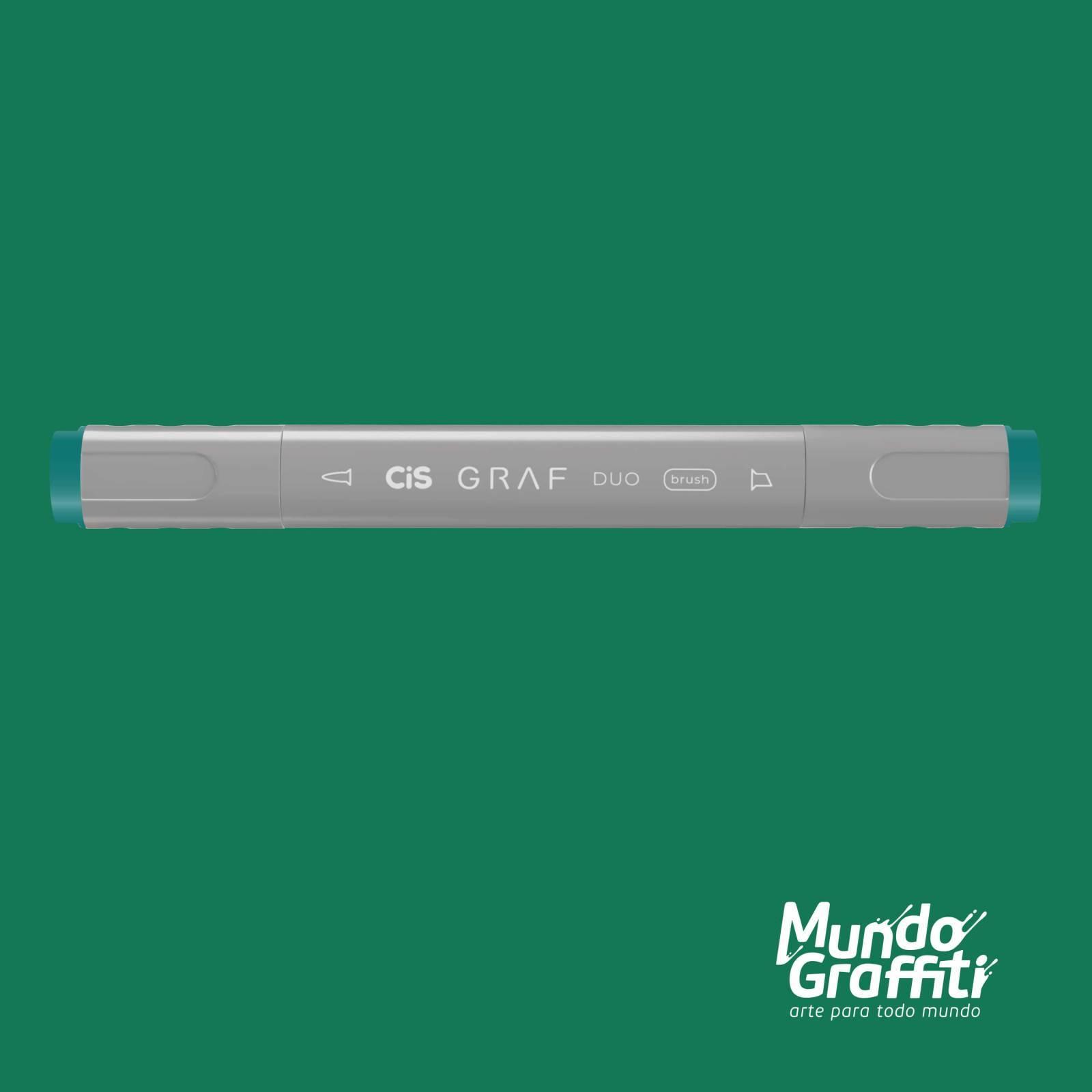 Marcador Cis Graf Duo Brush Turquoise Green 53 - Mundo Graffiti