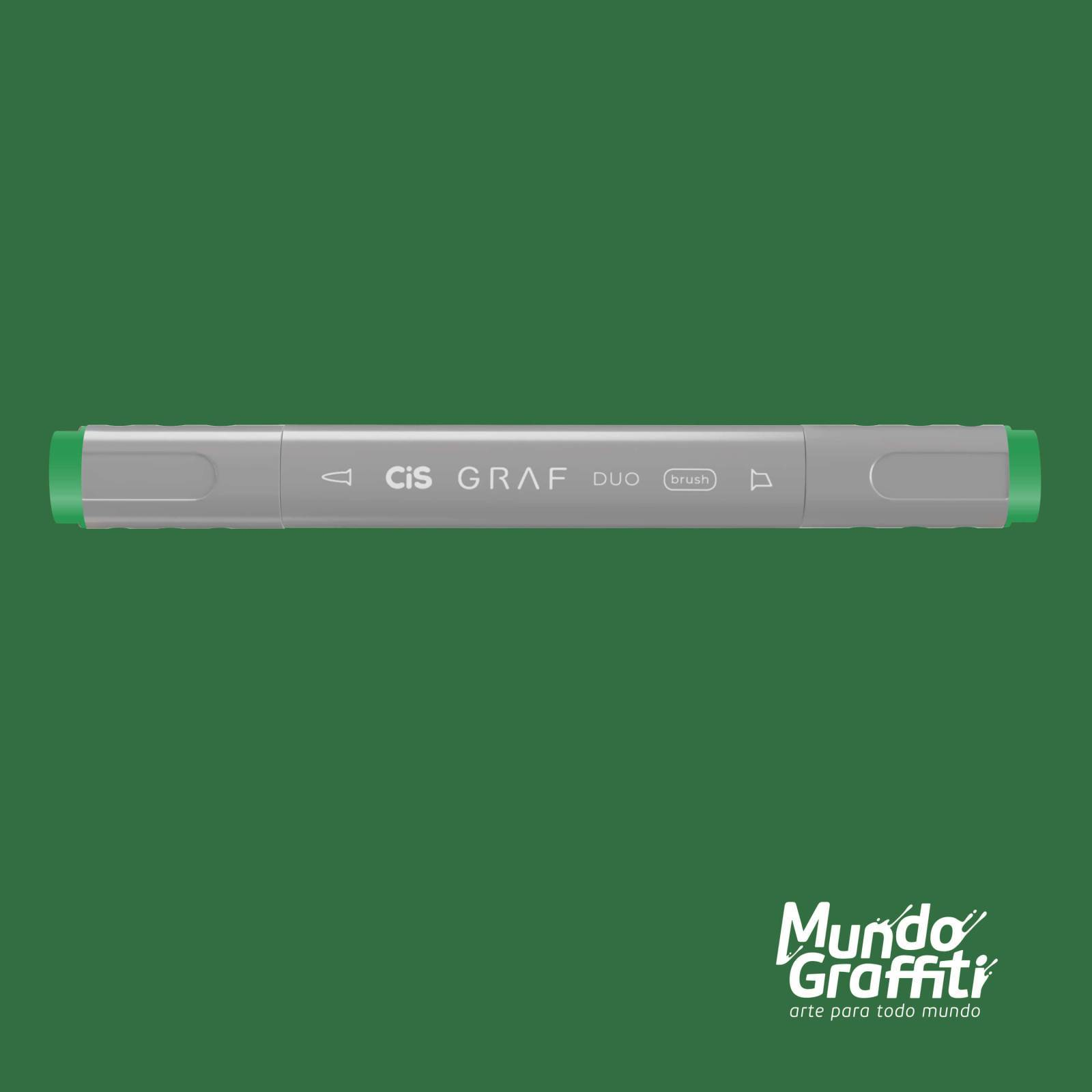 Marcador Cis Graf Duo Brush Emerald Green 55 - Mundo Graffiti
