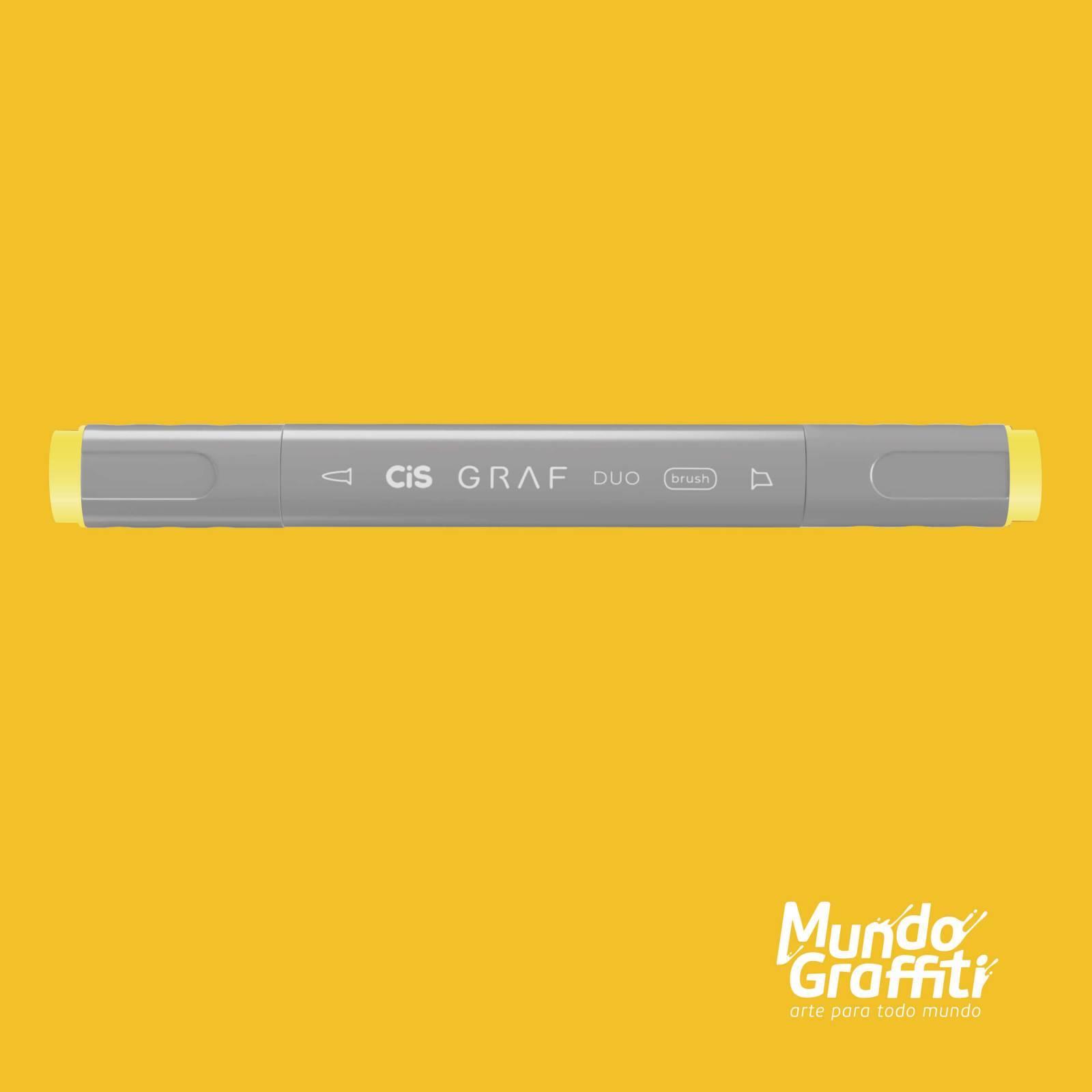 Marcador Cis Graf Duo Brush Melon Yellow 33 - Mundo Graffiti