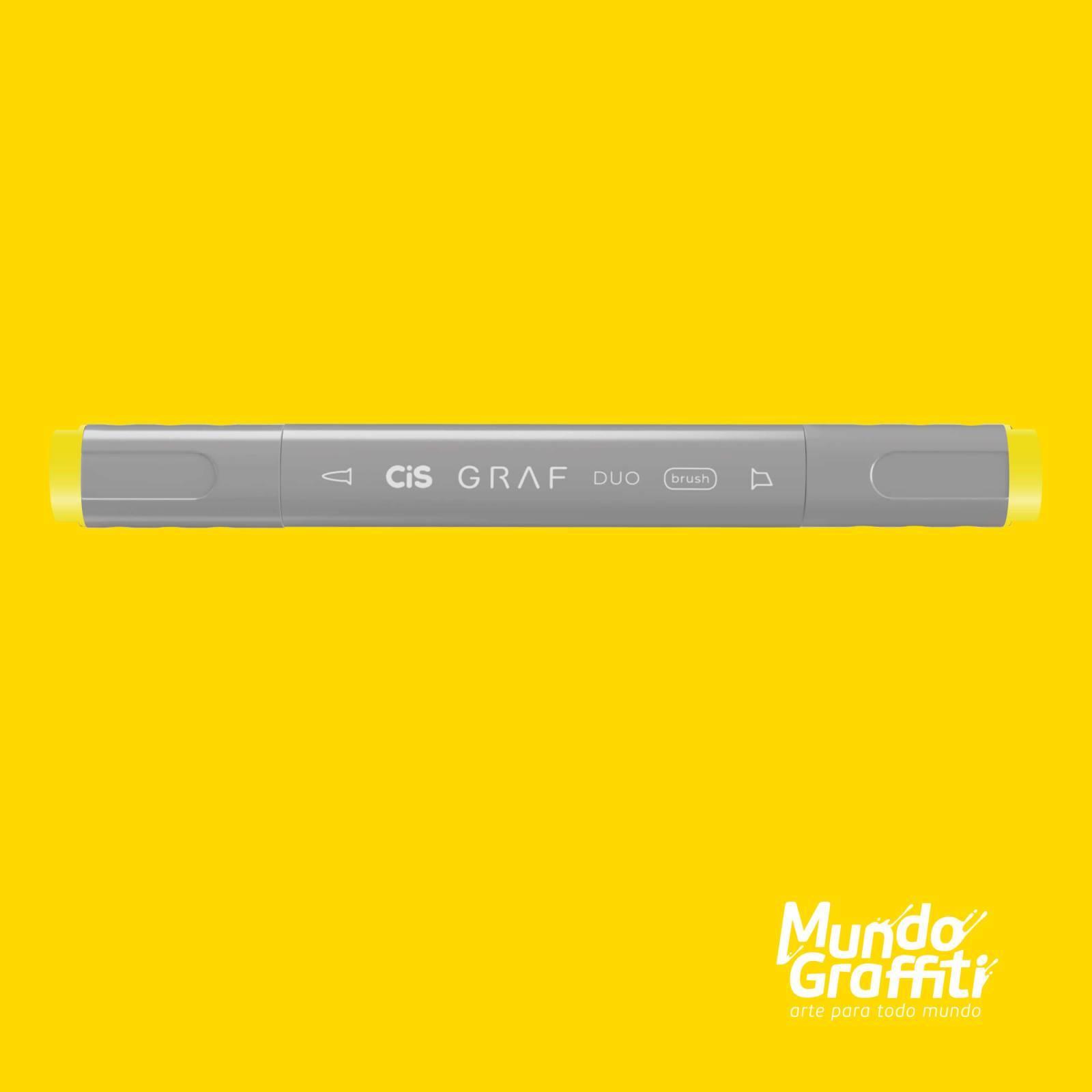 Marcador Cis Graf Duo Brush Lemon Yellow 35 - Mundo Graffiti