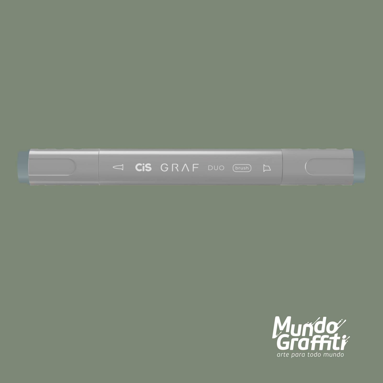 Marcador Cis Graf Duo Brush Green Grey GG3 - Mundo Graffiti