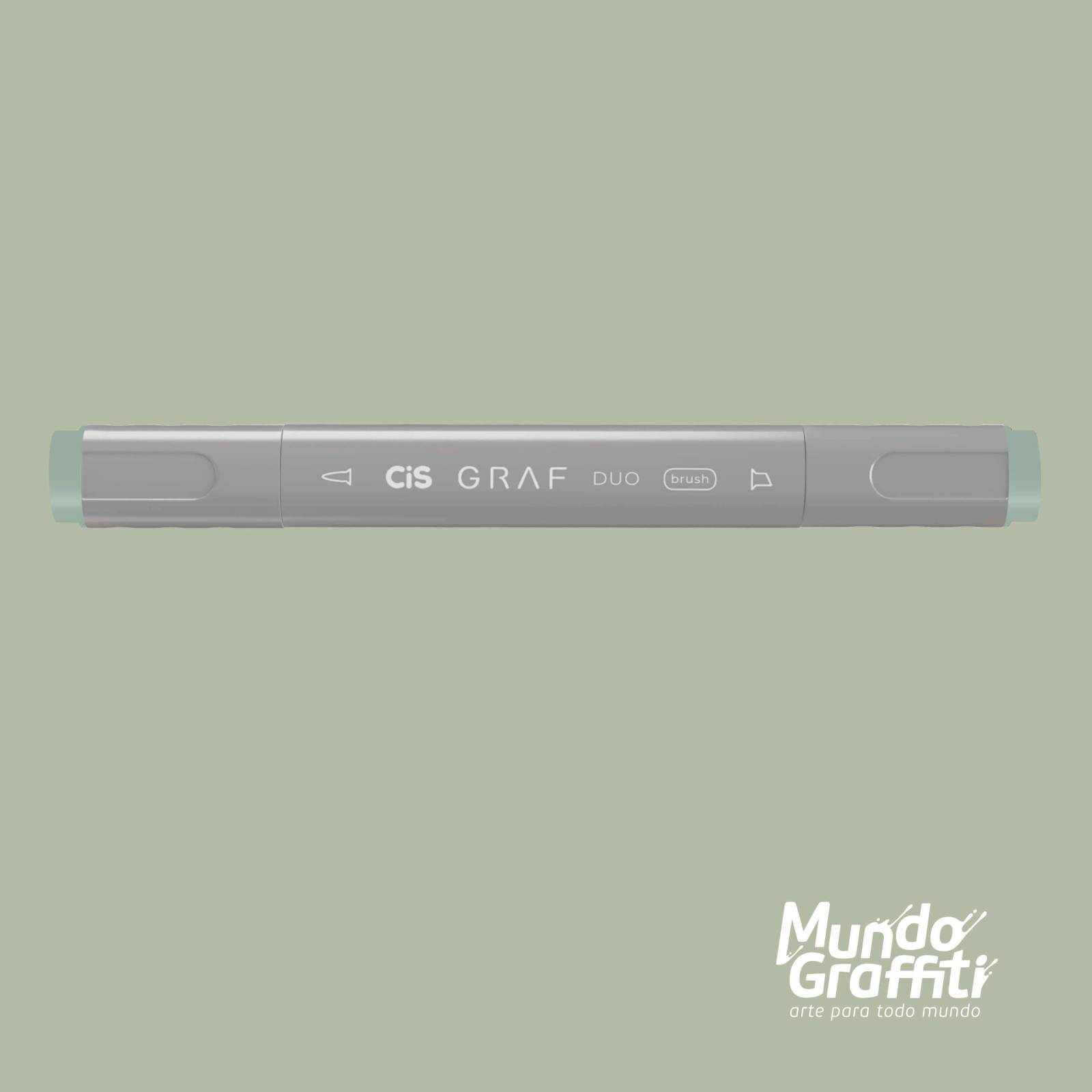 Marcador Cis Graf Duo Brush Green Grey GG1 - Mundo Graffiti