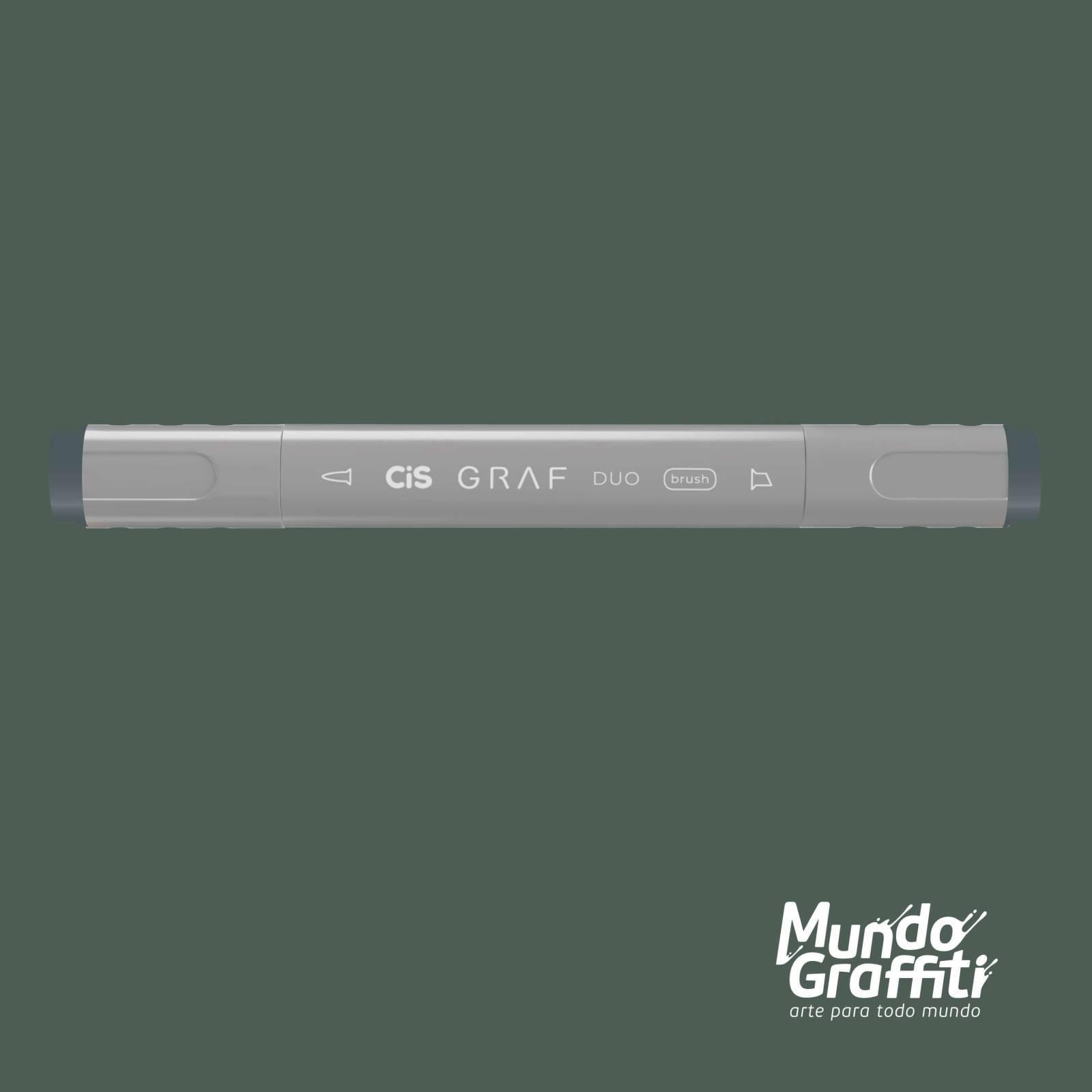 Marcador Cis Graf Duo Brush Green Grey GG5 - Mundo Graffiti