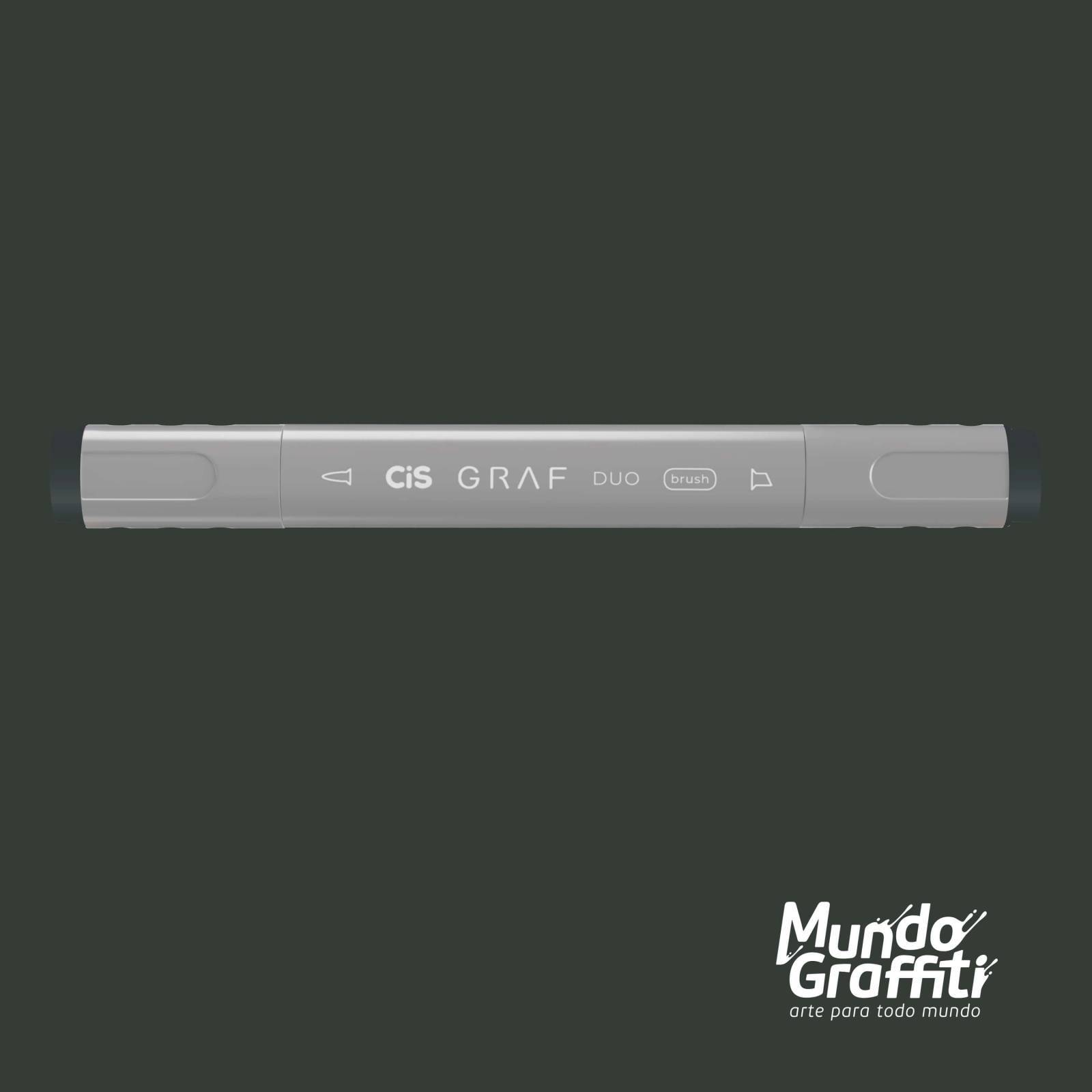 Marcador Cis Graf Duo Brush Green Grey GG7 - Mundo Graffiti