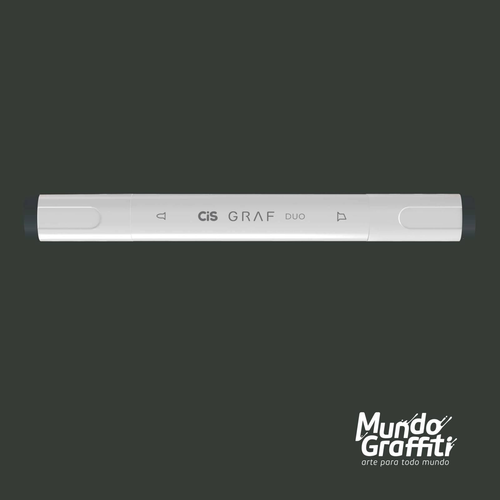 Marcador Cis Graf Duo Green Grey GG7 - Mundo Graffiti