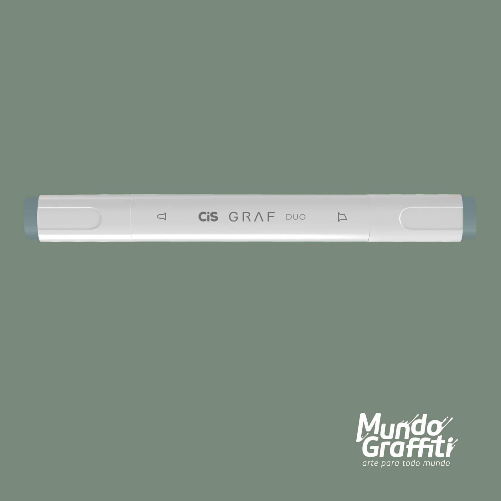 Marcador Cis Graf Duo Green Grey GG3 - Mundo Graffiti