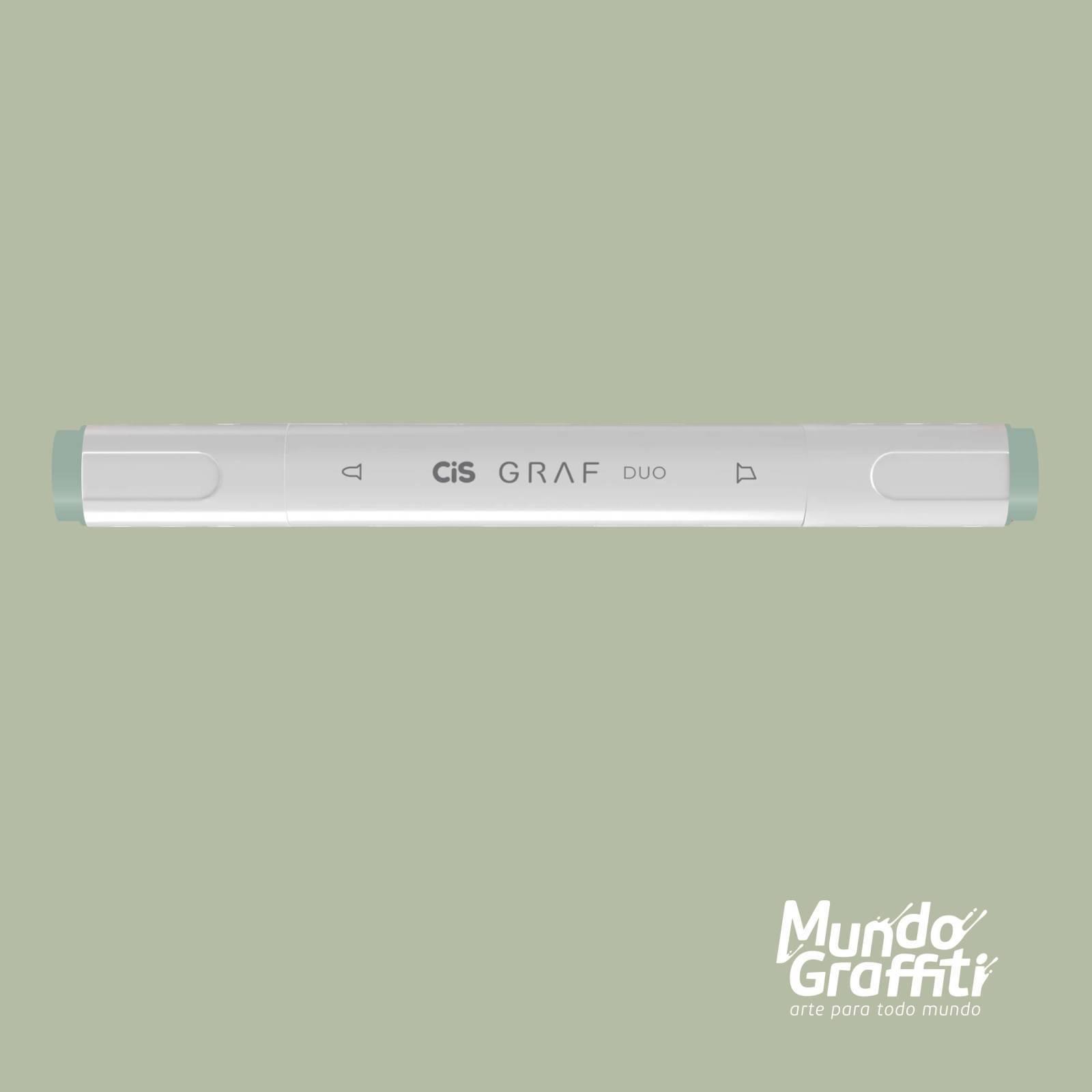 Marcador Cis Graf Duo Green Grey GG1 - Mundo Graffiti
