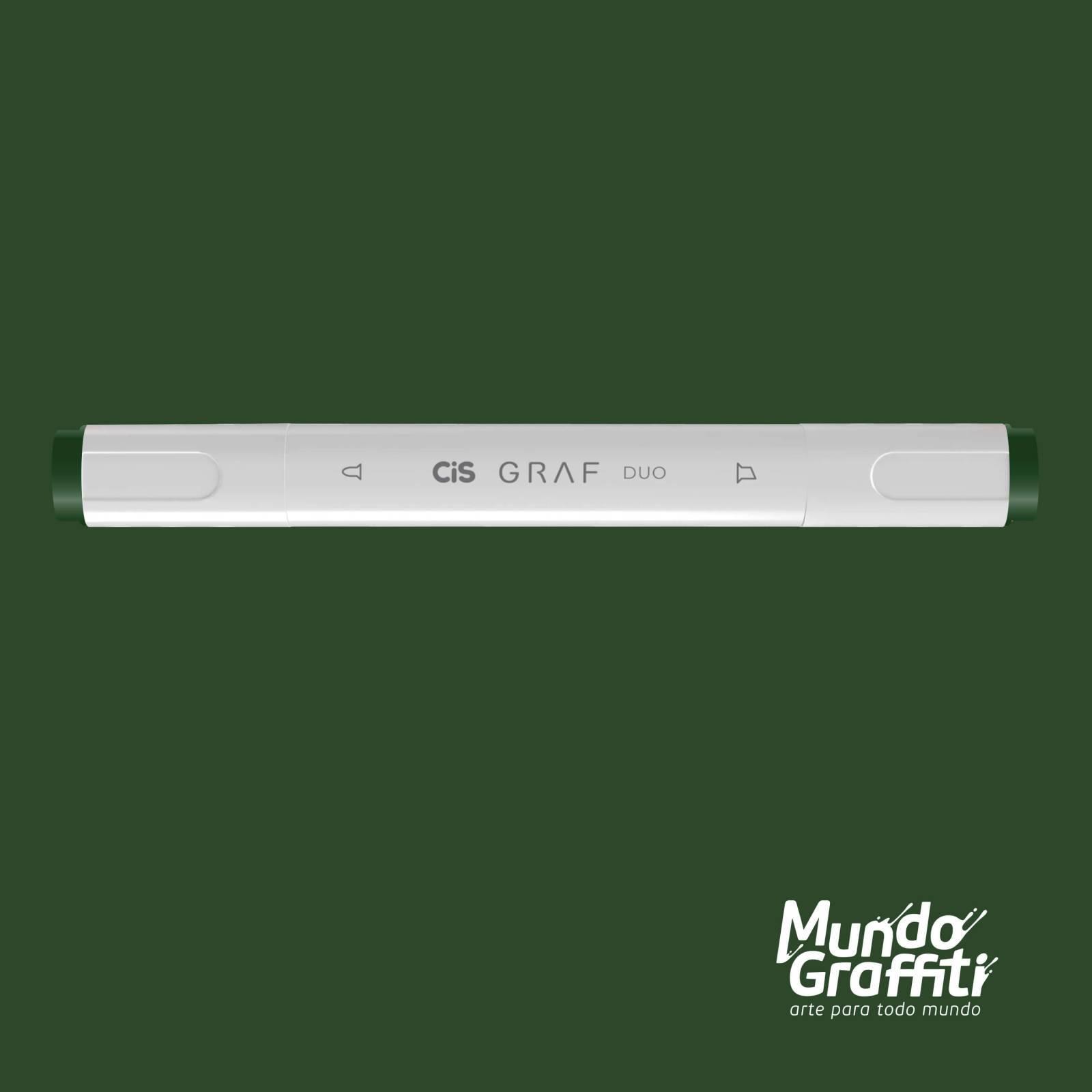 Marcador Cis Graf Duo Dark Green 51 - Mundo Graffiti