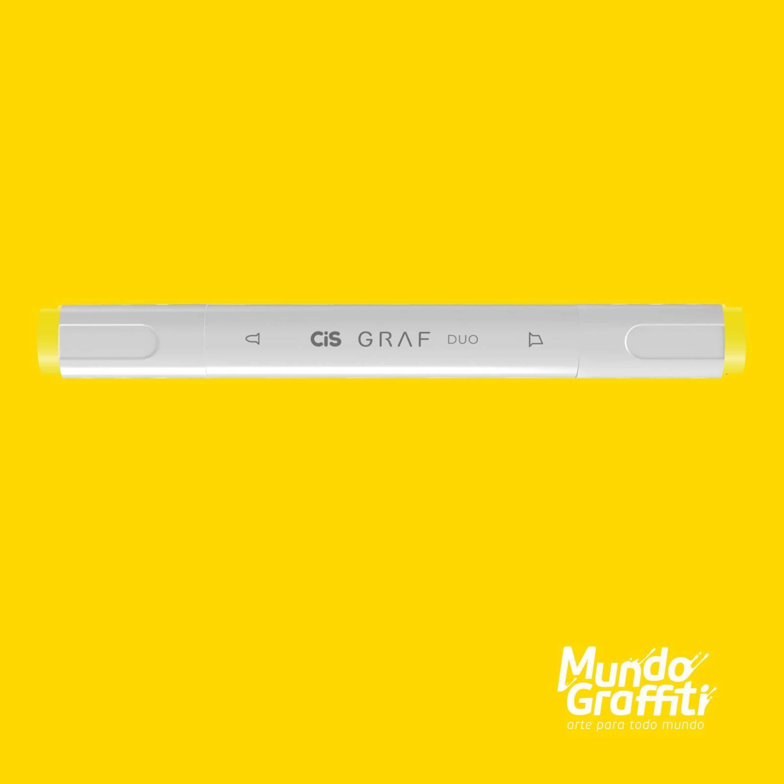 Marcador Cis Graf Duo Lemon Yellow 35 - Mundo Graffiti