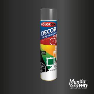 Tinta Spray Colorgin Decor 8661 Grafite Metalico 360ml