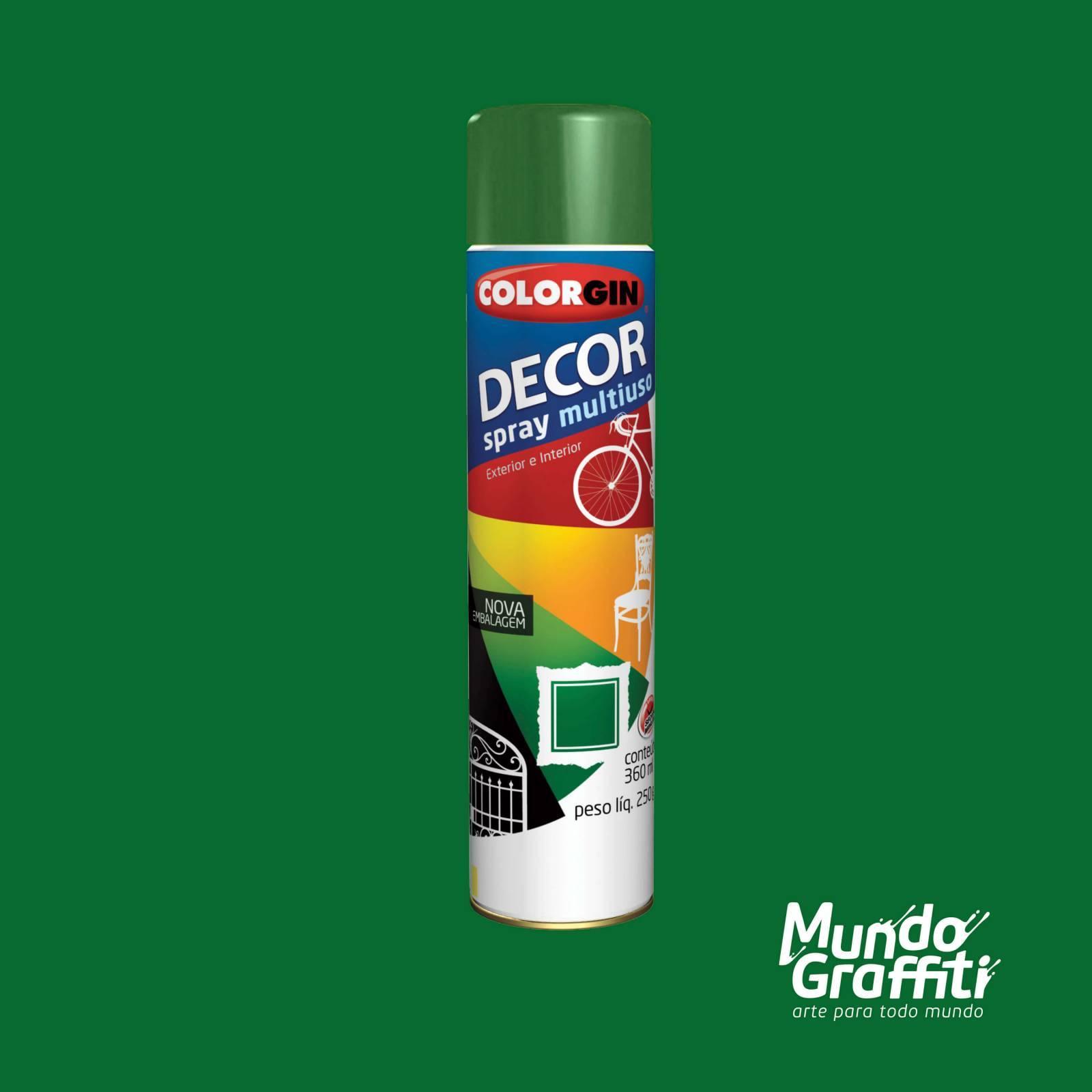 Tinta Spray Colorgin Decor 8751 Verde Folha Brilhante 360ml - Mundo Graffiti