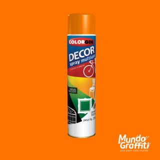 Tinta Spray Colorgin Decor 8831 Laranja Brilhante 360ml