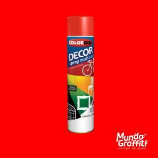 Tinta Spray Colorgin Decor 8761 Vermelho Brilhante 360ml