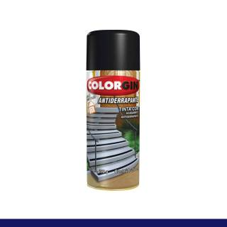 Tinta Spray Colorgin Antiderrapante 1601 Preto 350ml