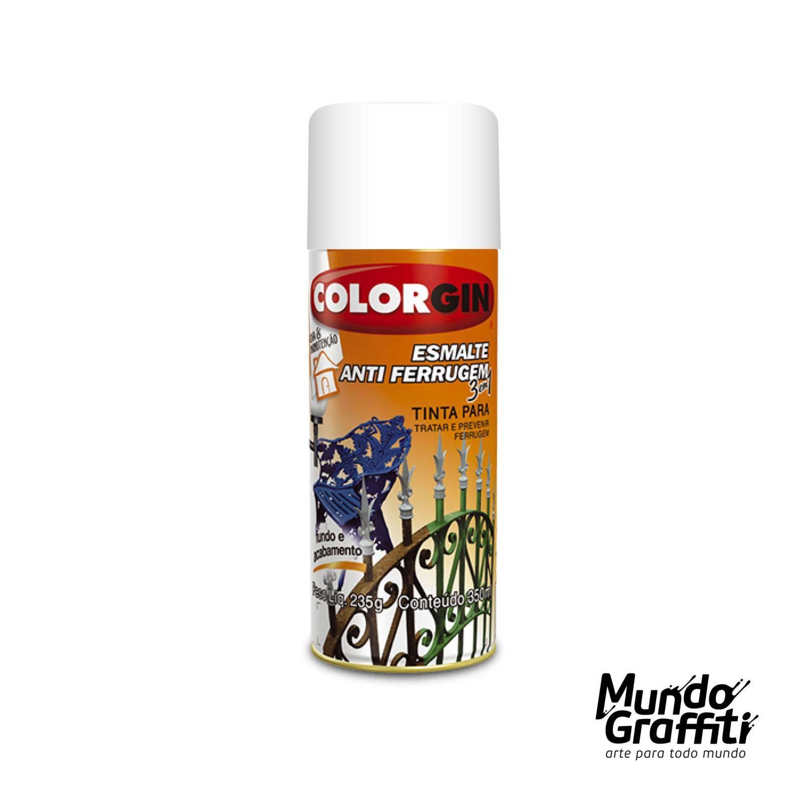 Esmalte Anti Ferrugem 2031 Branco 350ml Colorgin - Mundo Graffiti