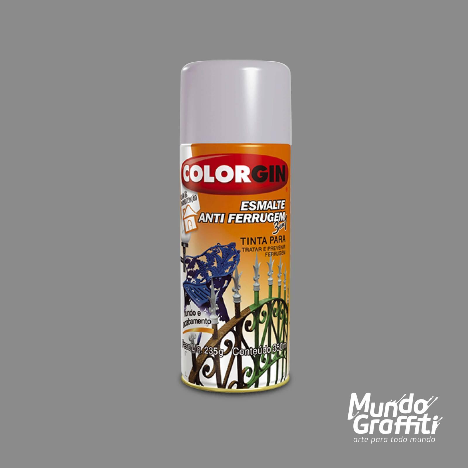 Esmalte Anti Ferrugem 2033 Platina 350ml Colorgin - Mundo Graffiti