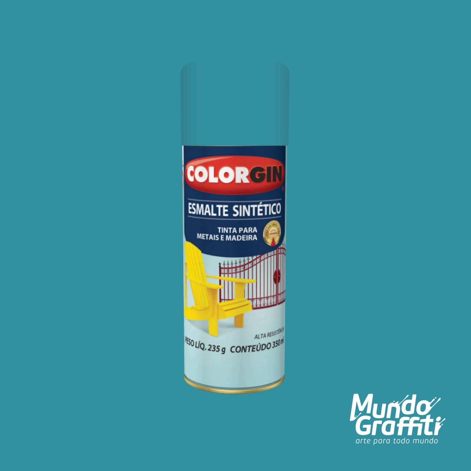 Esmalte Sintetico 735 Azul Ceu 350ml Colorgin - Mundo Graffiti