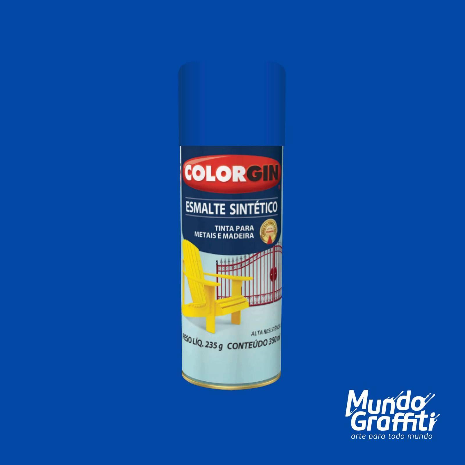 Esmalte Sintetico 740 Azul Medio 350ml Colorgin - Mundo Graffiti