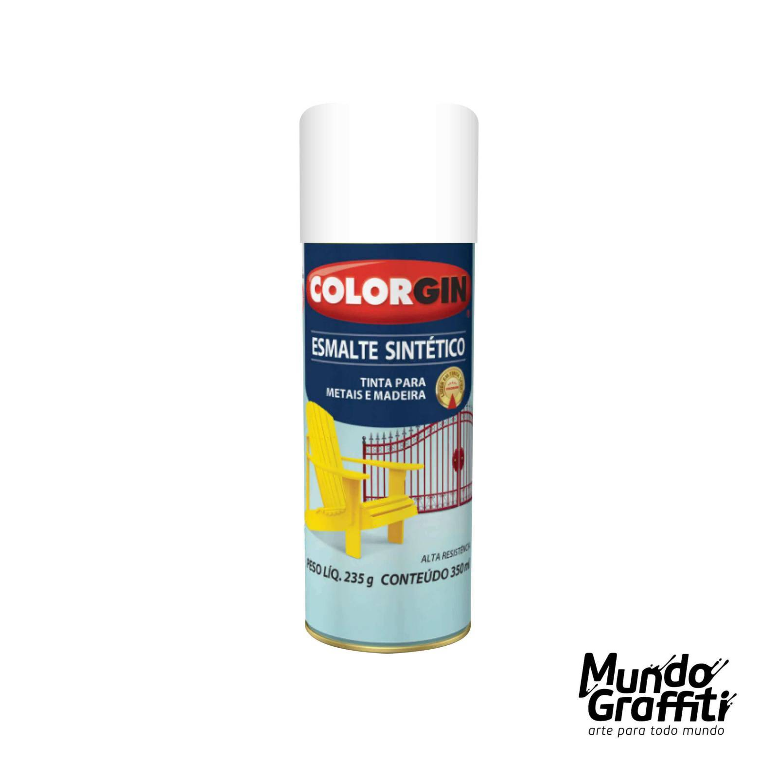 Esmalte Sintetico 745 Branco Brilhante 350ml Colorgin - Mundo Graffiti