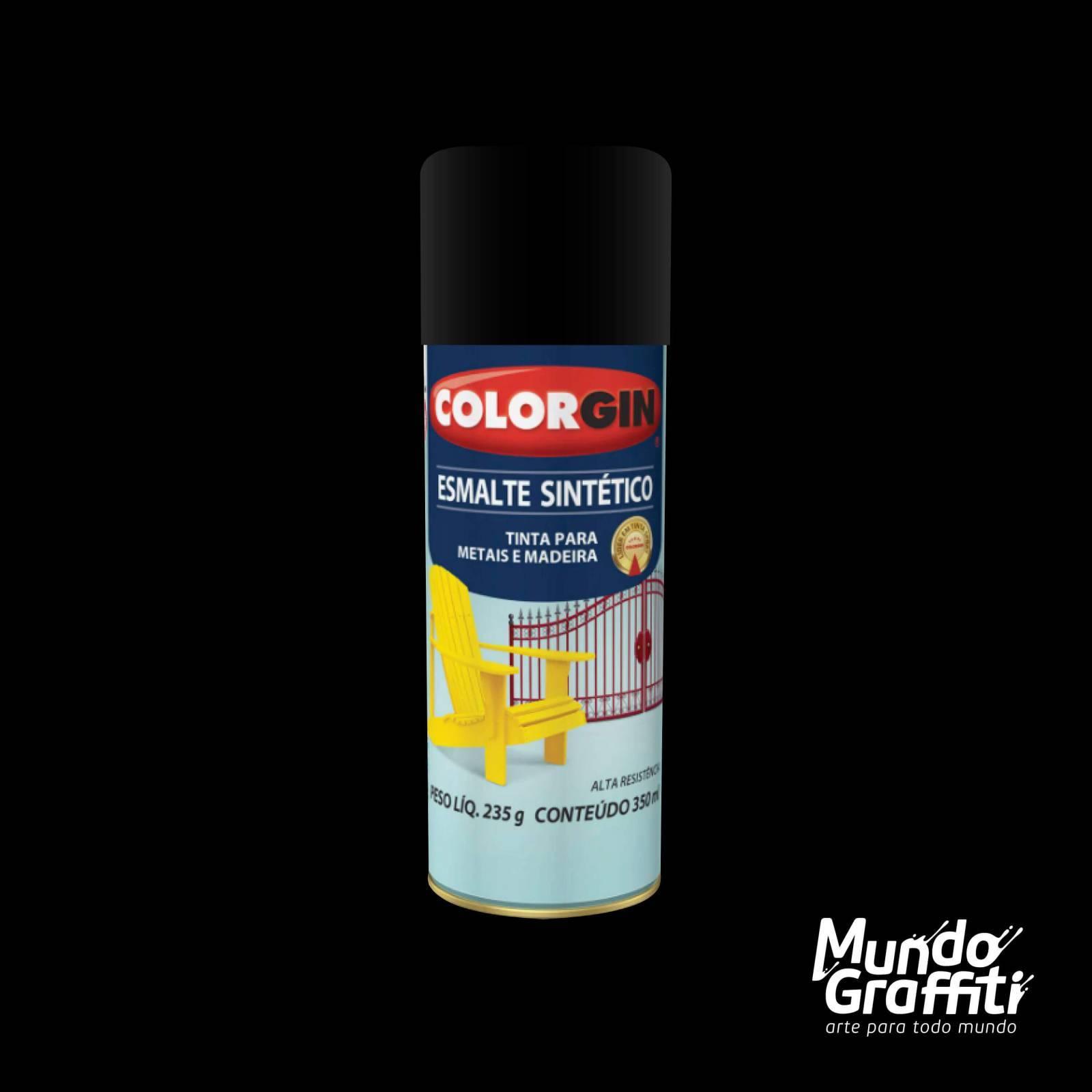 Esmalte Sintetico 748 Preto Fosco 350ml Colorgin - Mundo Graffiti