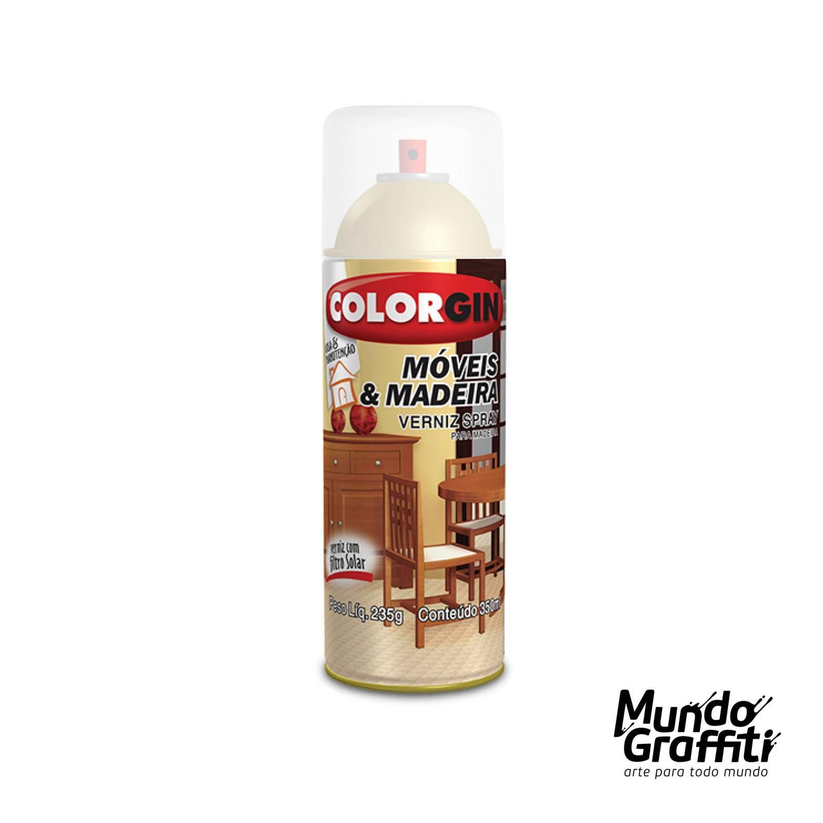Spray Verniz Colorgin Natural p/ Madeira 787 Fosco 350ml - Mundo Graffiti