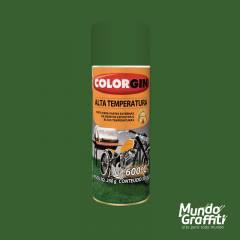 Tinta Spray Colorgin Alta Temperatura 5726 Verde Fosco 300ml