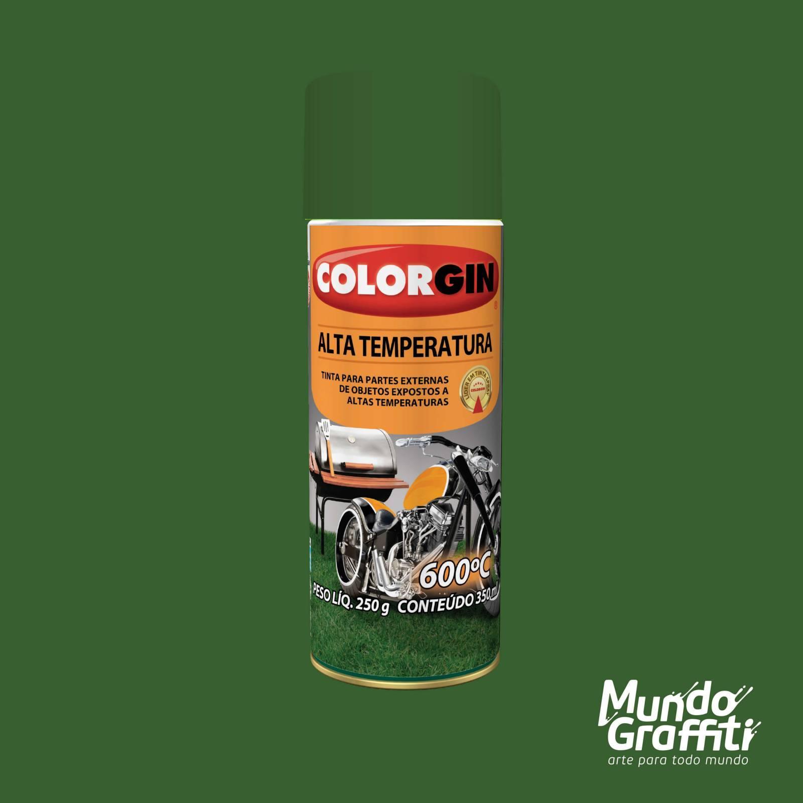 Tinta Spray Colorgin Alta Temperatura 5726 Verde Fosco 300ml - Mundo Graffiti