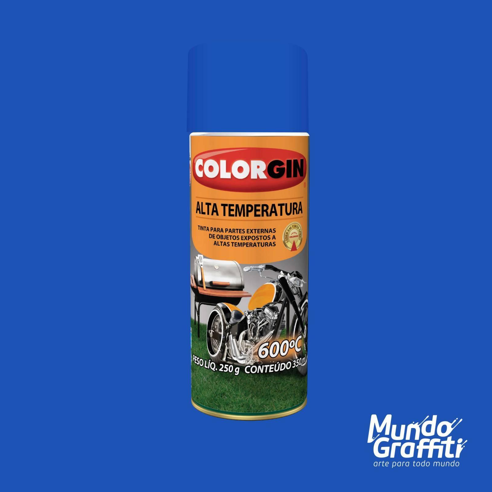 Tinta Spray Colorgin Alta Temperatura 5727 Azul Fosco 300ml - Mundo Graffiti